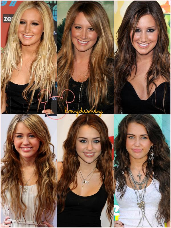 Le temps passe les gens changent et la couleur de che veux aussi les stars sont belles - Passer de blonde a brune ...